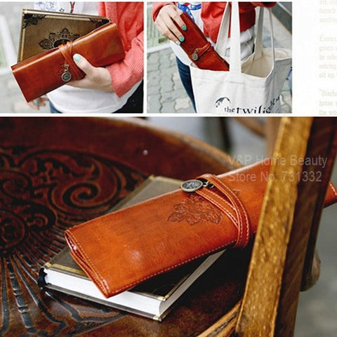 Vintage Twilight Leather Pencil Case
