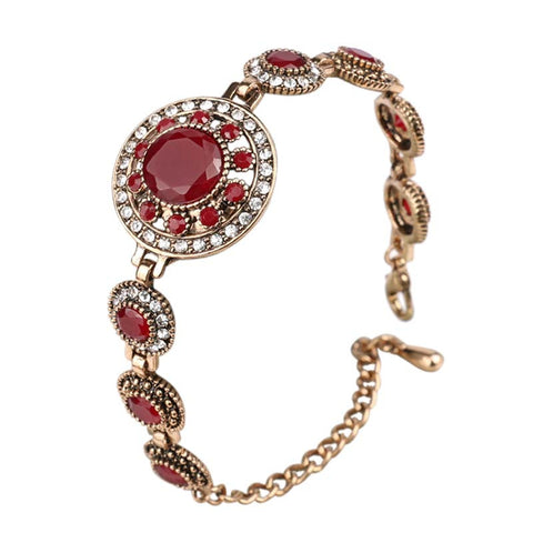 18K Gold Red Agate Gypsy Bracelet - The TOI Store