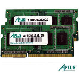 4GB kit (2x2GB) DDR3 1333 SODIMM for Apple iMac (Mid 2010,2011, Late 2011), Mac Mini (Mid 2011), MacBook Pro (2011)
