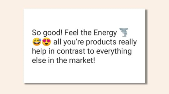 Energy Herbs Feedback