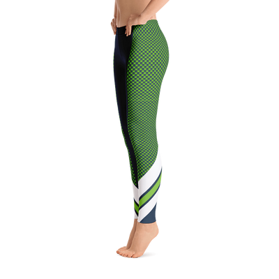 Blue Hawks Feather Leggings Legging - Square Boy Clothing