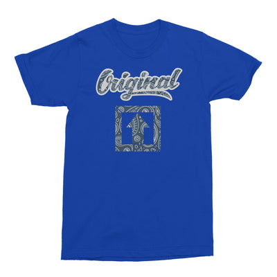 Original Blue Paisley T-SHIRT - Square Boy Clothing
