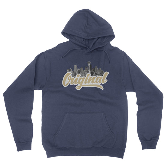 Original Seattle Navy Pullover Hoodie - Square Boy Clothing
