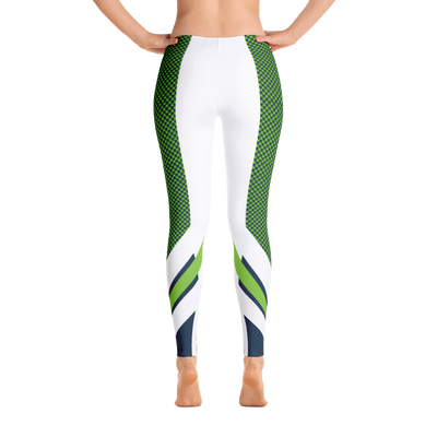 White Hawks Feather Leggings Legging - Square Boy Clothing