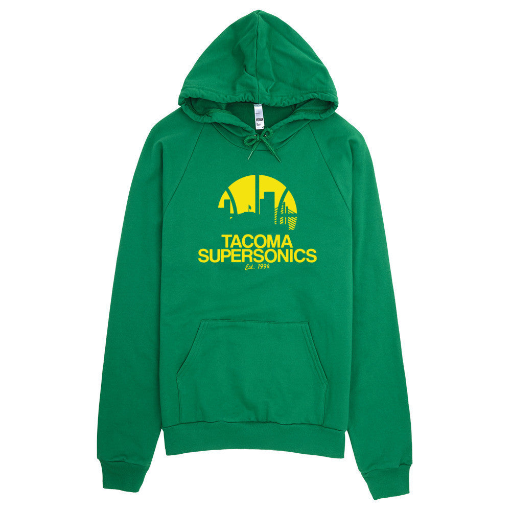 Tacoma Supersonics Green Pullover Hoodie - Square Boy Clothing