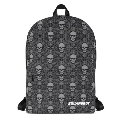 Grey Skull Backpack Backpack - Square Boy Clothing