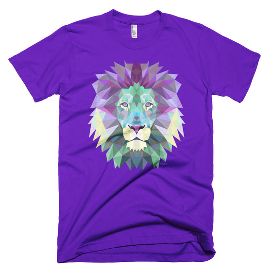 Ogee Lion Purple Men's T-Shirt - Square Boy Clothing