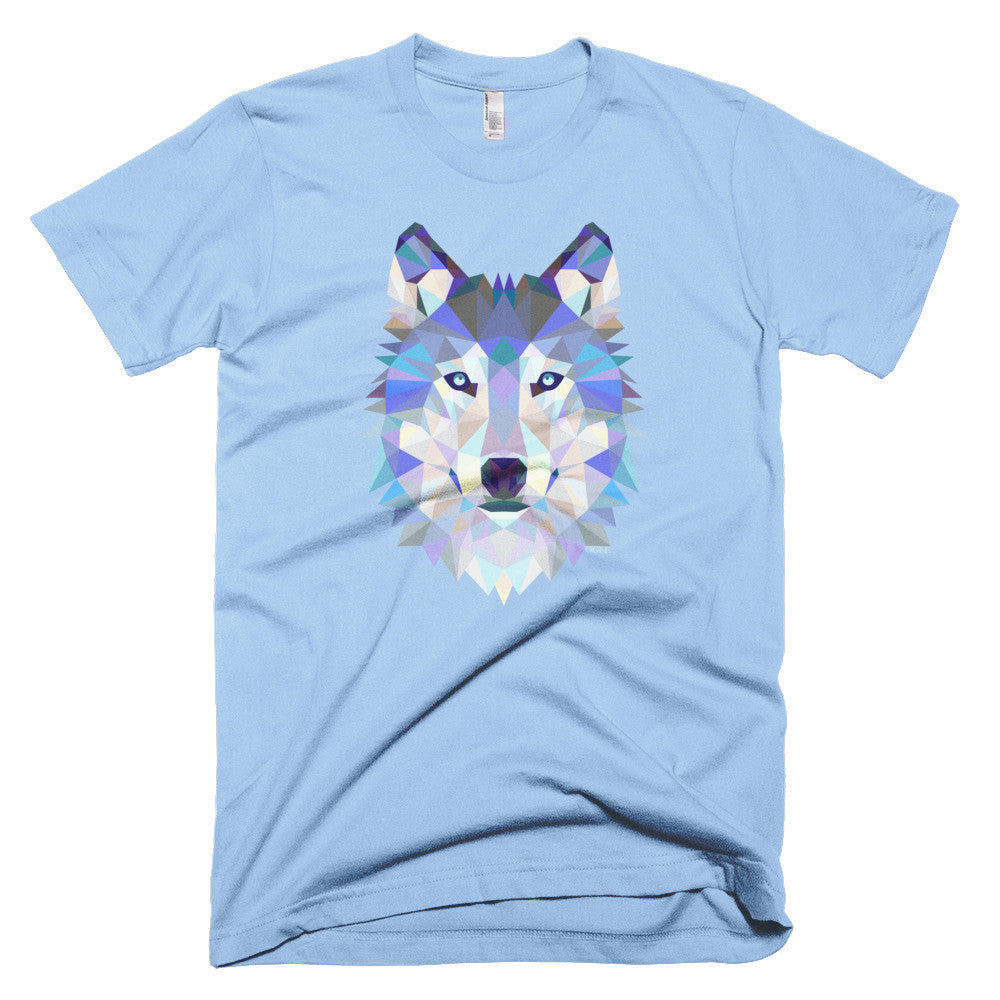 Ogee Wolf Light Blue Men's T-Shirt - Square Boy Clothing