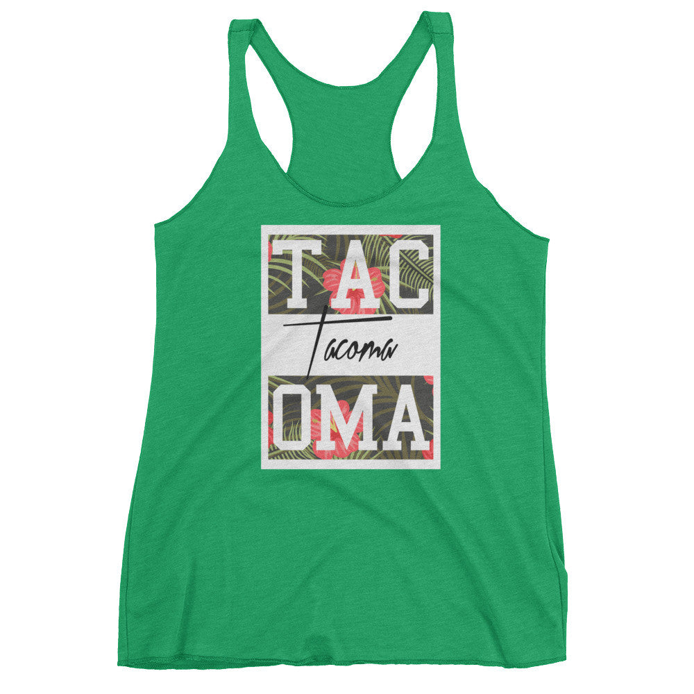 Tacoma Flowers Tank Tank top - Square Boy Clothing