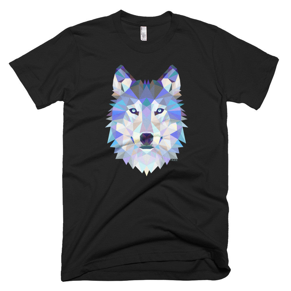 Ogee Wolf Black Men's T-Shirt - Square Boy Clothing