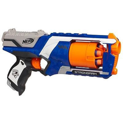 OFFICIAL NERF ELITE N-STRIKE STRONGARM GUN, FIRESTRIKE SOFT DART GUNS WITH  DARTS