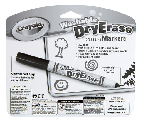 8 crayola dry erase washable markers clean felt tip pens for all