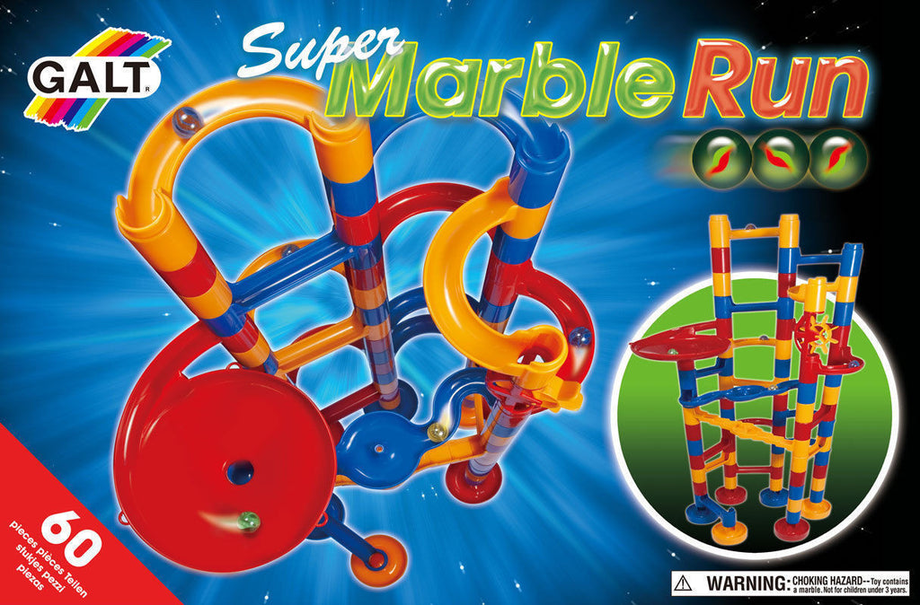 Galt Toys Super Marble Run Game Box Gift Pack- 60 Pcs,8 Marbles- !Latest Model!