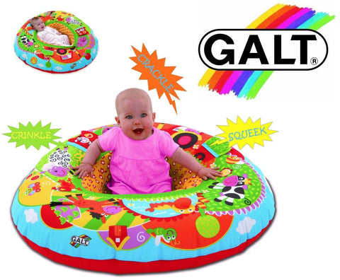 GALT BABY PLAYNEST FARM - TRIANGULAR MULTI SENSORY INFLATABLE PLAY RING