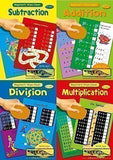 BEGINNERS MATHS SET OF 4 WIPE CLEAN CHILDRENS EDUCATIONAL BOOKS - ALLIGATOR