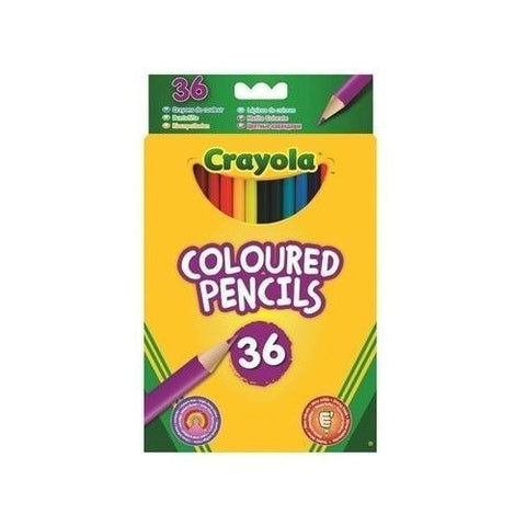 36 Crayola Coloured Pencils - Pre Sharpened Bright Colouring Pencils