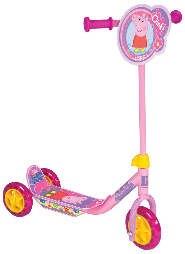 Peppa Pig My First Tri-Scooter Adjustable Anti-Slip 3 Wheeler Outdoor Toy - Pink
