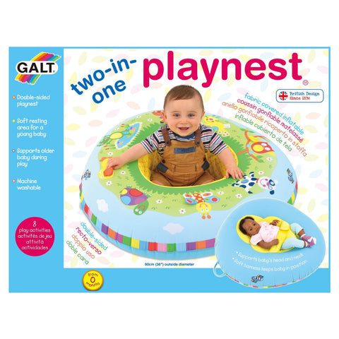 GALT TOYS 2 IN 1 PLAYNEST FARM - TRIANGULAR MULTI SENSORY INFLATABLE PLAY RING
