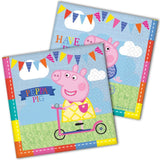 NEW PEPPA PIG SUMMER TIME PARTY TABLEWARE DECORATIONS KIT FOR 16 GUESTS