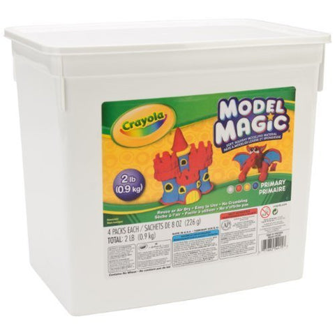 Crayola Model Magic Coloured 2Lb Bucket - Soft, Squishy, Air Drying Modelling