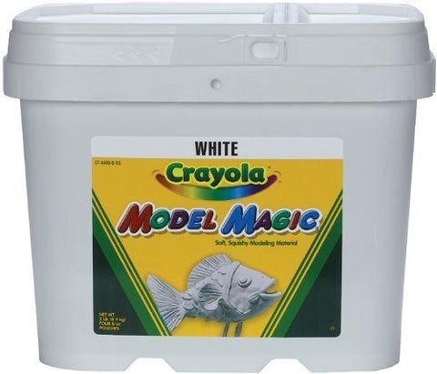 Crayola Model Magic White Bucket Soft, Squishy, Air Drying Modelling Material