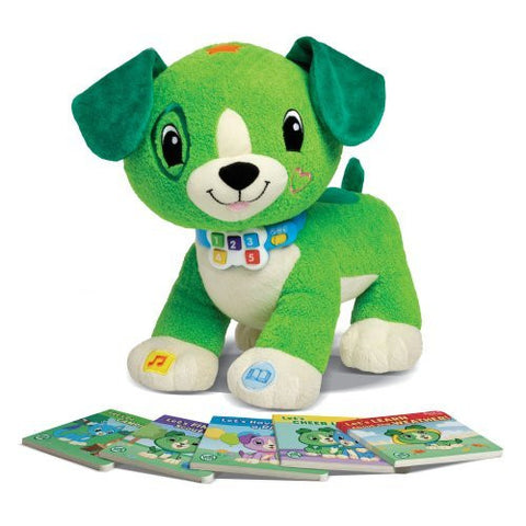 LeapFrog Read With Me Scout Soft Toy Puppy Dog Learn With Setof 5 Books- 2-5Yrs
