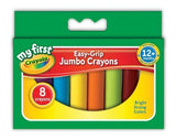 8 CRAYOLA JUMBO CRAYONS EASY GRIP IDEAL FOR LITTLE HANDS - UK STOCK - FAST SHIP