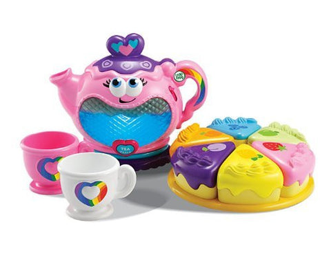 LeapFrog Musical Rainbow Tea Party Teapot Tea Set Toy 50+ Songs, Phrases Light &