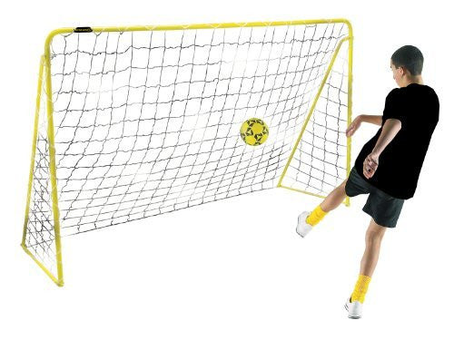 Kickmaster Premier 8ft Steel Goal Frame, Net and Anchor Pegs, Garden Football - 5+Yr