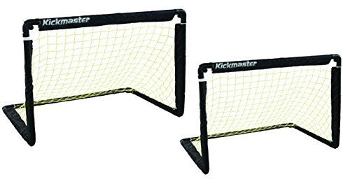 Kickmaster One on One Folding Goal Set, Training Soccer Skill Goal Set Black