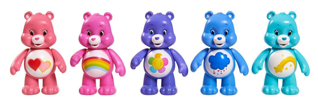 Care Bears Pack of 5 Articulated Figures- Love,Cheer, Harmony, Grumpy, Wish - 3+