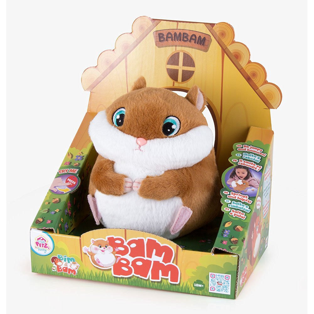 Club Petz Bam Bam The Hamster Plush Toy Funny Hopping Vibrating Toy