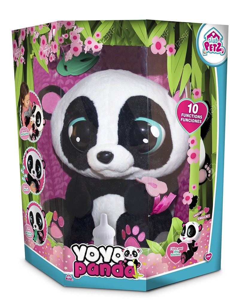 Club Petz YoYo The Panda Toy, Kids Interactive Soft Stuffed Animal Toy