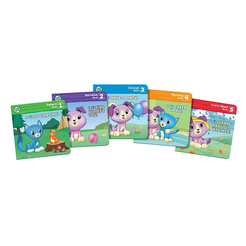 LeapFrog Read With Me Violet Soft Toy Puppy Dog Learn Setof 5 Books 2
