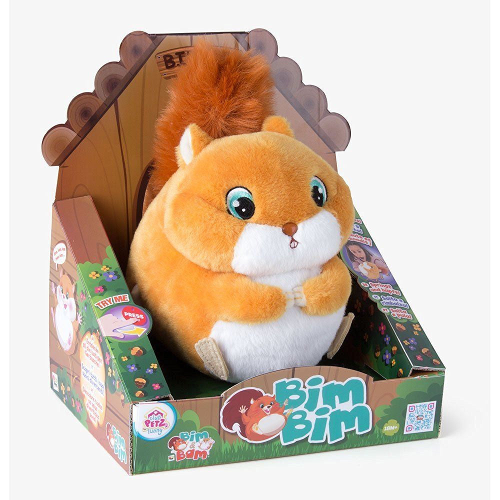 IMC Toys Club Petz Funny Bim Bim Squirrel Hopping Vibrating Toy -18+ Months