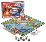 Pokemon Monopoly Kanto Edition Family Fun Board Game - 6 Metal Tokens Included