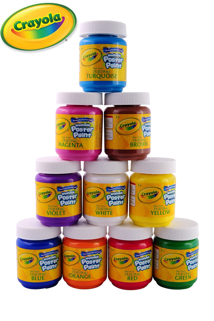Crayola Paint Set Non-Toxic Washable Kids Paint set - 10 Pack