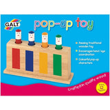Kid's Galt Pop Up Toy - Traditional Crafted Wooden Faces Pop-Up Characters Toy