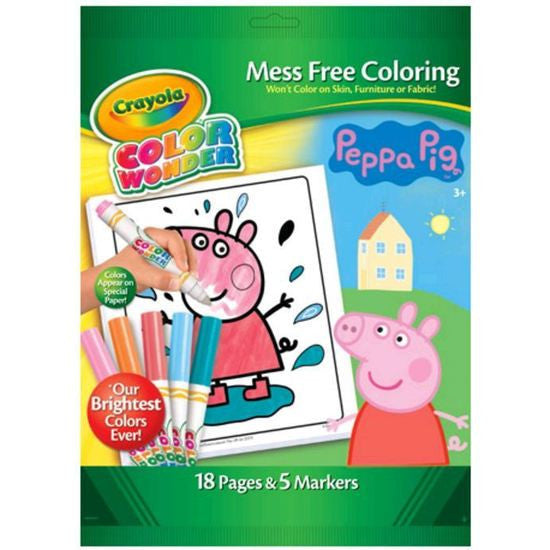 Peppa Pig Color Wonder Set Mess Free Coloring by Crayola - 18 pages & 5 Markers Peppa Pig Color Wonder Set Mess Free Coloring by Crayola - 18 pages & 5 Markers