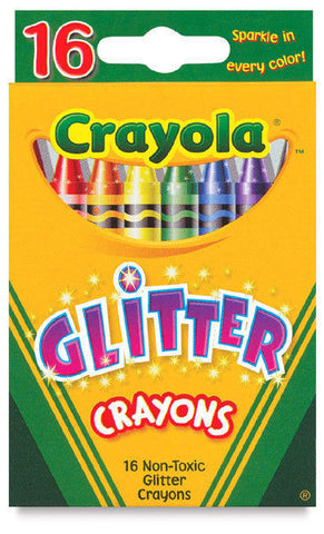 16 Crayola Glitter Crayons - Non Toxic Assorted colors Wax Crayons - FREE SHIP 16 Crayola Glitter Crayons - Non Toxic Assorted colors Wax Crayons - FREE SHIP