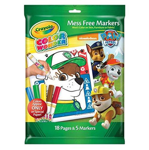 Crayola Paw Patrol Color Wonder Mess Coloring Pad and Markers