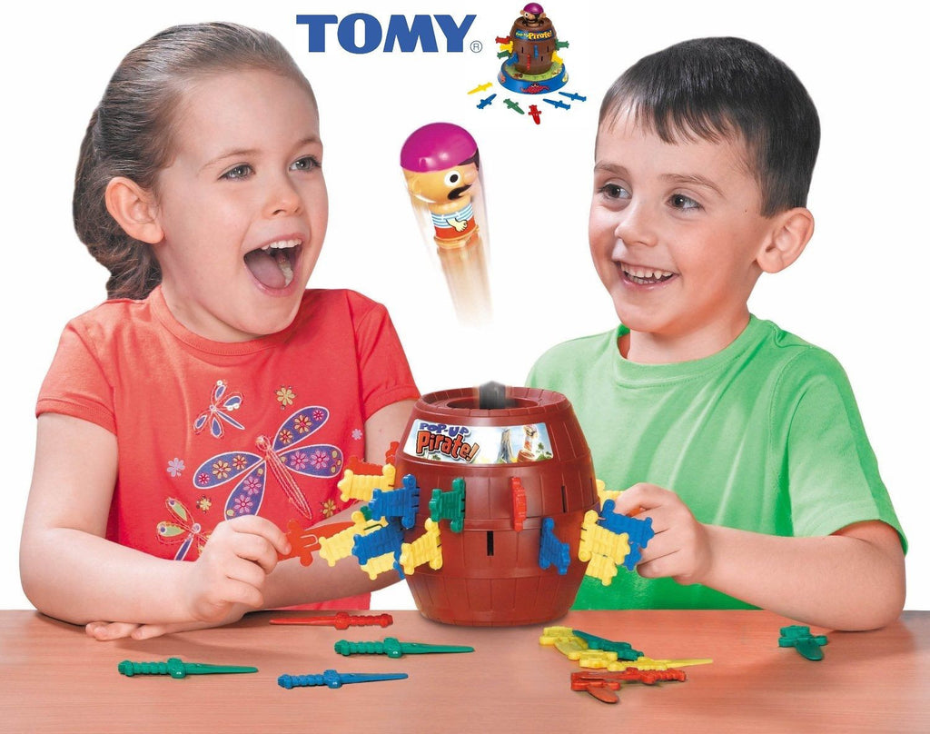 OFFICIAL TOMY POP-UP PIRATE GAME - KID'S FUN GAME SET - HOURS OF FUN