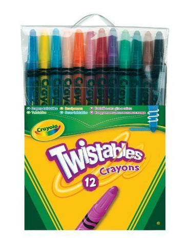 12 Crayola Twistable Wax Crayons, Colouring Art Crayons Twistables - FREE SHIP 12 Crayola Twistable Wax Crayons, Colouring Art Crayons Twistables - FREE SHIP