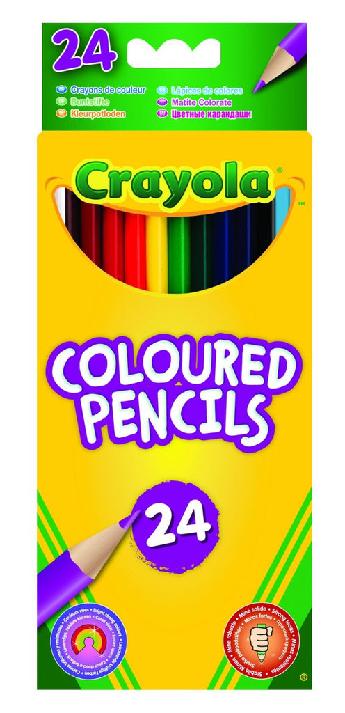 Crayola - 24 Crayola Coloured Pencils Crayola - 24 Crayola Coloured Pencils