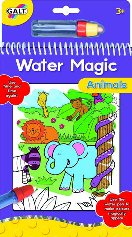 Galt Water Magic Animals Coloring Books with 6 reusable pictures