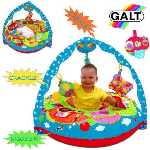 BABY GALT TOYS PLAYNEST & GYM SET - FARM (TRIANGULAR) MULTI SENSORY PLAY RING