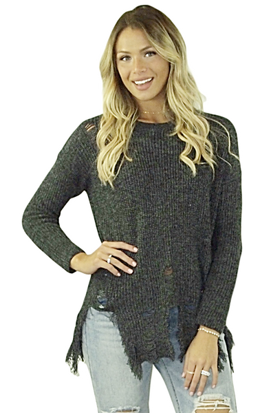 Catrina Distressed Sweater