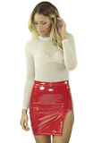 Jessica Vinyl Skirt - Bathing Suit