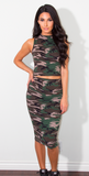 Taylor Camo Pencil Skirt Set - Bathing Suit