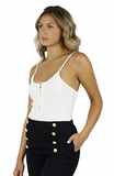 Louise Ribbed Zip Bodysuit - Bathing Suit